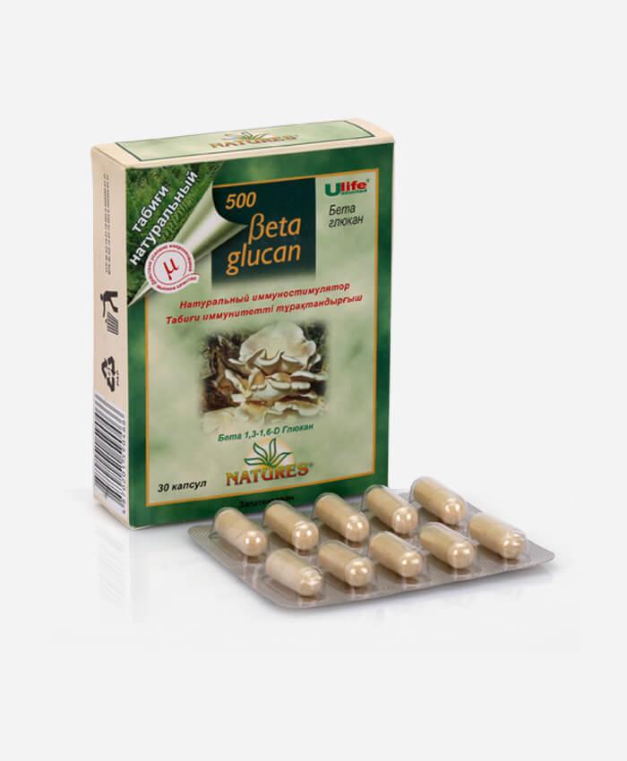 «Beta glucan» (Бета глюкан) 30 капсул 500 мг.